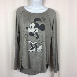 NWT Disney Minnie Mouse Gray Tee, Size S